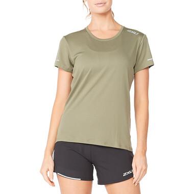 T-Shirt 2XU AERO Femme Manches Courtes Vert 2021